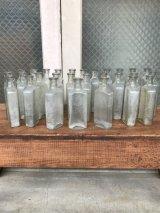 19世紀 1860'S 70'S 80'S メディスンボトル 瓶 クリアガラス アンティーク ビンテージ