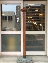 1930'S 40'S ウッド ブラス アイアン コートハンガー ハンガーラック  ハンギングポール  coat hook ハットハンガー hat hanger 店舗什器 アンティーク ビンテージ