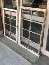 shabby chic シャビーシック 木枠ガラス 窓  8分割 木製 ホワイト アンティーク ビンテージ