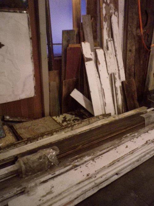 other photographs.3: アンティーク バーンウッド 廃材 ホワイト 白 シャビー 30cm×30cm@ old barn wood ビンテージ