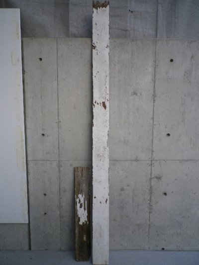 画像1: アンティーク バーンウッド 廃材 ホワイト 白 シャビー 30cm×30cm@ old barn wood ビンテージ