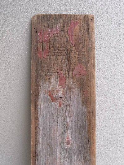 画像2: アンティーク 廃材 バーンウッド 30cm×30cm@ レッド 朱色 シャビー アメリカ old barn wood ビンテージ
