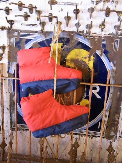 画像1: アンティーク EMS ダウンシューズ 室内履き ビンテージアウトドア