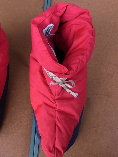 画像4: アンティーク EMS ダウンシューズ 室内履き ビンテージアウトドア