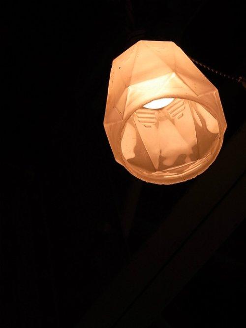 other photographs.2: アンティーク アールデコ シーリングペンダントライト 1灯 柄曇りガラスシェード ビンテージ