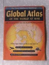 アンティーク 洋書 Global Atlas OF THE WORLD AT WAR 世界地図 1943-44年ごろ 本 古書