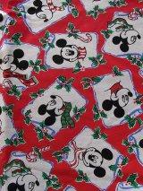 アンティーク ファブリック ミッキーマウス 生地 ビンテージ