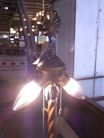 画像1: アンティーク 2灯 ベンジャミンソケット フロアランプ ビンテージ 1910's 1920's 1930's