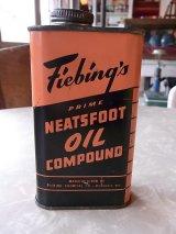 アンティーク ティン缶 Fieding's  NEATSFOOT OIL COMPOUND ビンテージ