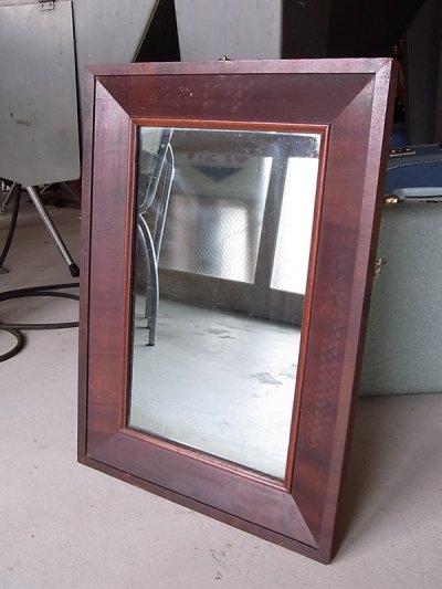 画像1: アンティーク フレーム付き鏡 ビクトリアン時代 シンプルミラー 木枠 19世紀末頃 ビンテージ