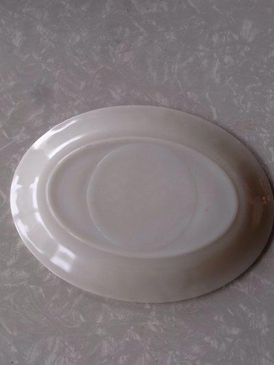 画像4: アンティーク ファイヤーキング ディナープレート オーバルプラッター ホワイト ビンテージ