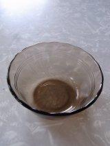 アンティーク パイレックス フルーツフリルリム カスタードカップ アンバー ブラック ビンテージ