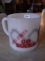 アンティーク フェデラル ミルクガラス マグカップ OHIO STATE  Red Lobster ビンテージ