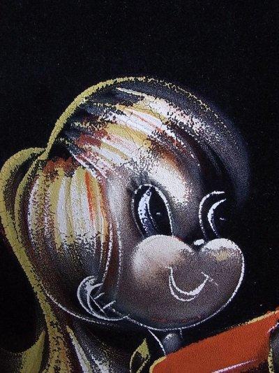 画像5: アンティーク 絵画 ベルベットアート 額縁付 女の子 ビンテージ
