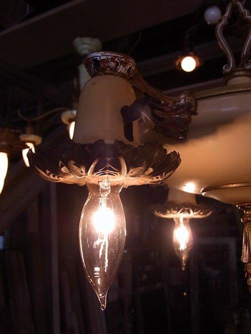 other photographs.3: アンティーク  1920'S ペンダントランプ 3灯 シーリングライト 装飾 シャンデリア ビンテージ