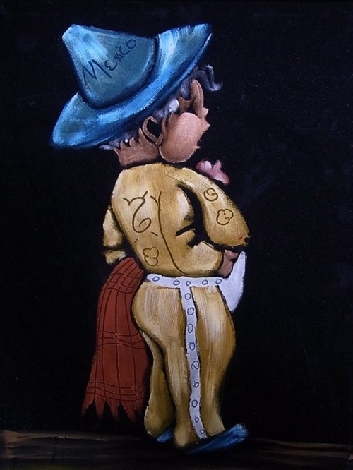 other photographs.1: アンティーク ウォールオーナメント 絵画 ベルベットアート 2pcs set 額縁付 男の子 女の子 ビンテージ