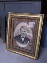 アンティーク ビクトリアン フレーム 装飾付き額縁 ウォールオーナメント 肖像画 男性 ビンテージ