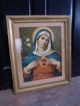 アンティーク ウォールオーナメント 額縁 聖母マリア ビンテージ