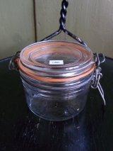 アンティーク グラスジャー 保存容器 ビンテージ