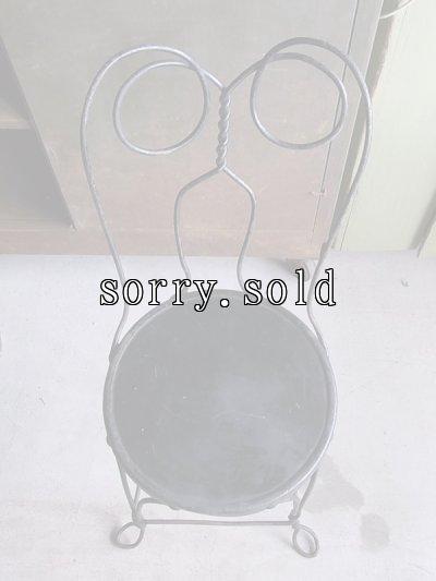画像5: アンティーク アイスクリームパーラーチェア 黒 ビンテージ