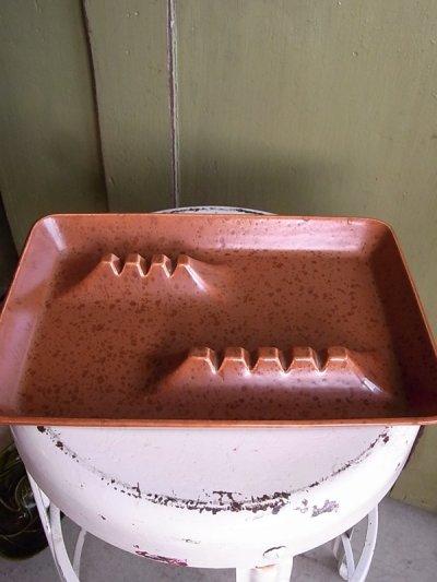 画像1: アンティーク 灰皿 小物入れ ブラウン ビンテージ