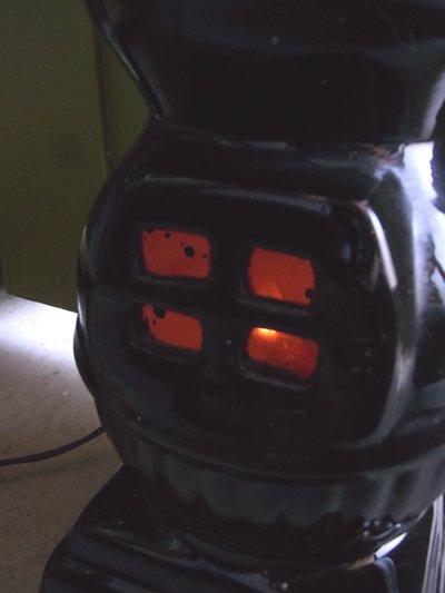 画像3: アンティーク 1灯 デスクランプ ストーブ型 ストーブモチーフ 陶器 ビンテージ