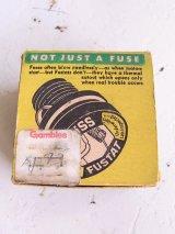 アンティーク アメリカ製 BUSS FUSTATS NOT JUST A FUSE ソケット型ヒューズ FOUR S 25 箱入りデッドストック ビンテージ その1