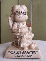 アンティーク 70's メッセージドール WORLD'S GREATEST GRANDMA 人形 小さいサイズ ビンテージ