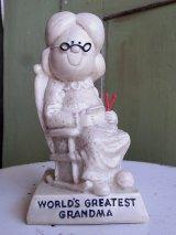 アンティーク 70's メッセージドール WORLD'S GREATEST GRANDMA 人形 大きいサイズ ビンテージ