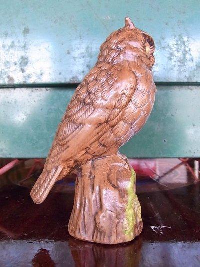 画像2: アンティーク オブジェ フクロウ 陶器 ビンテージ