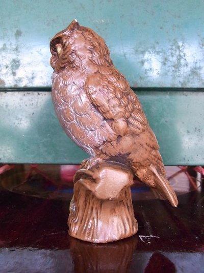 画像4: アンティーク オブジェ フクロウ 陶器 ビンテージ