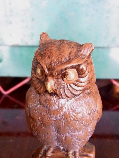 画像5: アンティーク オブジェ フクロウ 陶器 ビンテージ