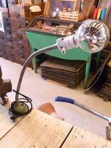 アンティーク 1920'S  インダストリアル ウォールマウント&デスク 1灯 ポーセリンソケット 蛇腹式 ビンテージ