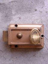 アンティーク ドア用サーフェイスロック リムロック IDEAL SECURITY ビンテージ