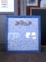 アンティーク US.MAIL USPS    ウォールオーナメント ガラスショーケース 壁掛け 連絡板 掲示板 ビンテージ