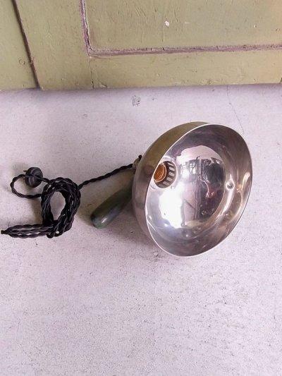 画像1: アンティーク マシーンエイジ 1灯 インダストリアル ランプ メタルシェード ビンテージ