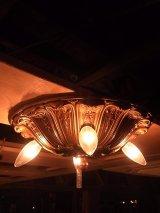 アンティーク アーリーエレクトリック 鋳物 シーリングライト 4灯 装飾 1900-1930's ビンテージ