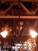 アンティーク アーリーセンチュリー シーリングライト 2灯 2又 装飾 1900-1930's ビンテージ