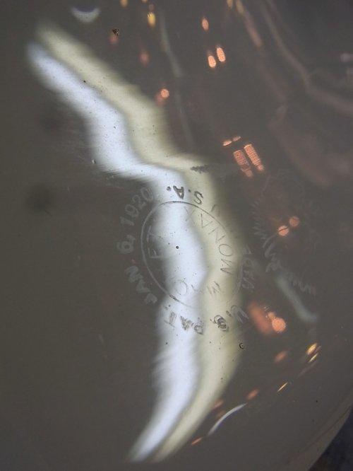 other photographs.3: アンティーク 1920's ペア 柄付きミルクガラスシェード ペンダントランプ 1灯  OLD スクールハウスシーリング 2pcs set ビンテージ
