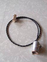 1950'S 60'S 70'S アンティーク ベアバルブ ソケット シンプルランプ 裸電球 マットシルバー アルミ ビンテージ 【随時オーダー受付中】
