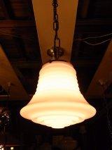 アンティーク ミルクガラスシェード  ペンダントランプ 1灯 シーリングライト   ビンテージ