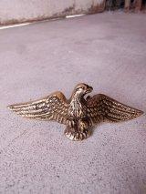 アンティーク 取手 真鍮 ゴールドクロームメッキ イーグル 鷹 鷲 デッドストック キャビネット、窓などに ビンテージ