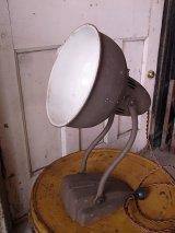 アンティーク マシーンエイジ アールデコ 1灯 インダストリアル スポットライト テーブルランプ メタルシェード ビンテージ