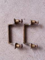 アンティーク 取手 2pcs set 真鍮 キャビネット、窓などに ビンテージ