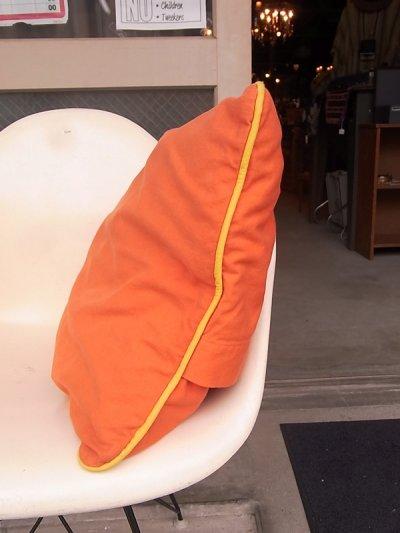 画像3: アンティーク クッション クッションカバー付きクッション オレンジ ヴィンテージ その1