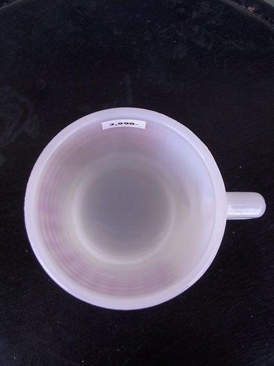 画像4: アンティーク ファイヤーキング スタッキング マグカップ スクエアギンガム レッド ビンテージ その2