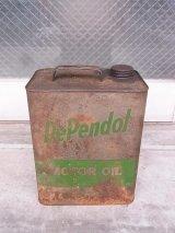 アンティーク ティン缶 DePendol MOTOR OIL オイル缶 ビンテージ
