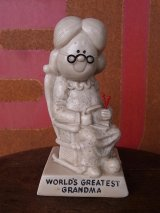 アンティーク 70's メッセージドール WORLD'S GREATEST GRANDMA 人形 大きいサイズ ビンテージ その2
