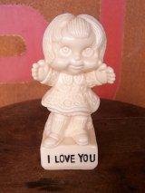 アンティーク メッセージドール I LOVE YOU  人形 ビンテージ