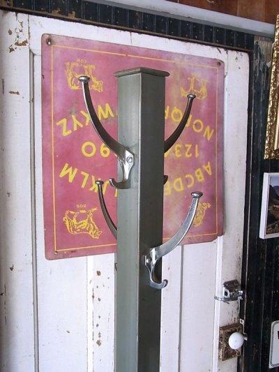 画像2: 40'S 50'S コートハンガー ハンガーラック ハンギングポール  coat hook ハットハンガー hat hanger 店舗什器 アイアンフック スチール アイアン GW GLOBE WERNICKE ビンテージ